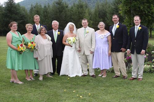 Finger Lakes B&B Wedding Family