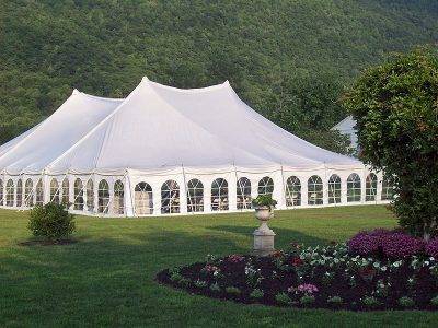 Wedding Tent at The Filigree Inn B&B in Rural Canandaigua, NY