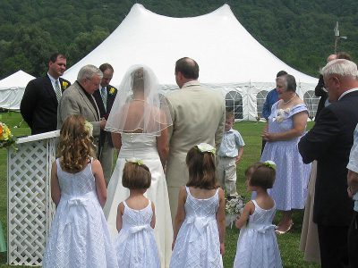 A most memorable wedding attended by your family and friends.